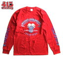 ショッピングチョッパー FRISCO CHOPPERS/フリスコチョッパーズ SKULL MOTOR LS TEE/ロングスリーブTシャツ・RED