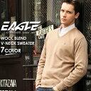【全品対象】10%OFFクーポン配布|【送料無料】 セーター Vネック 無地 メンズ ニット 大きいサイズ 日本製 日本規格 30001|ブランド EAGLE STANDARD イーグル|ニット ウール