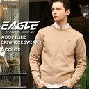 ショッピング本 【送料無料】 セーター Uネック 無地 メンズ ニット 大きいサイズ 日本製 日本規格 30002|ブランド EAGLE STANDARD イーグル|ニット ウール クルーネック