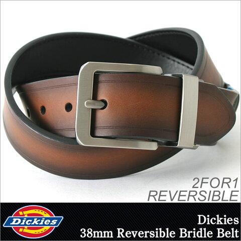 Dickies ディッキーズ ベルト メンズ 本革 リバーシブル [ディッキーズ Dickies ベルト メンズ 大きいサイズ ロング レザーベルト メンズ 本革 ベルト メンズ ブランド カジュアル] (USAモデル)