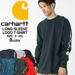 [10%OFFクーポン配布] カーハート ロンT 袖ロゴ <strong>メンズ</strong> Tシャツ 長袖 6.75oz 大きいサイズ k231 USAモデル│<strong>ブランド</strong> Carhartt|長袖Tシャツ アメカジ おしゃれ