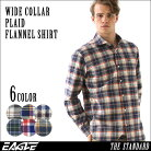 ネルシャツ メンズ 送料無料 チェックシャツ 長袖 ワイドカラー 大きいサイズ メンズ EAGLE …