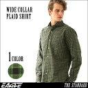 チェックシャツ 長袖 ワイドカラー 大きいサイズ メンズ EAGLE THE STANDARD [チェックシャツ メンズ チェック柄 チェック シャツ 大きいサイズ メンズ ワイシャツ ワイドカラー XL XXL 2L LL] (日本規格)