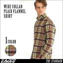 ネルシャツ メンズ 厚手 チェックシャツ フランネルシャツ メンズ チェック フランネル シャツ 大きいサイズ ワイシャツ ワイドカラー XL XXL 2L LL