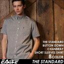 送料無料 シャツ メンズ 半袖 シャンブレーシャツ メンズ ボタンダウン 《EAGLE THE STANDA
