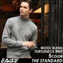 【送料無料】EAGLE THE STANDARD イーグル セーター メンズ タートルネック ニット 日本製 [日本規格] (eagle-30004) ニット セーター メンズ ウール 無地 タートルネック メンズ タートルネック ニット 黒 ブラック ネイビー 大きいサイズ LL 2L made in japan