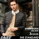【送料無料】 EAGLE THE STANDARD インナーダウン メンズ 軽量 防寒 [日本規格] (eagle-40001) イーグル インナーダウン ライトダウン ダウンジャケット 軽量 メンズ 大きいサイズ 無地 ブラック 撥水 軽い