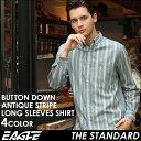 送料無料 EAGLE THE STANDARD イーグル シャツ ブランド 長袖シャツ メンズ ストライプ シャツ [日本規格] (eagle-89023) ストライプシャツ 長袖 シャツ メンズ カジュアルシャツ ボタンダウンシャツ ワイシャツ Yシャツ 大きい サイズ コットンシャツ メンズシャツ