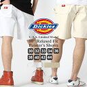 Dickies ディッキーズ ハーフパンツ メンズ 大きいサイズ メンズ ハーフパンツ 白  Dickies ディッキーズ ハーフパンツ メンズ 白 ホワイト ショートパンツ デニム ペインターパンツ ハーフ アメカジ ハーフパンツ デニム  (USAモデル)