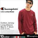 チャンピオン Champion チャンピオン ロンt メンズ tシャツ 長袖 大きいサイズ メンズ [Champion チャンピオン ロンt メンズ 無地 長袖tシャツ tシャツ 長袖 メンズ 大きいサイズ 無地 ロンt ブランド チャンピオン ロンT Champion usa LL 2L 3L] (USAモデル) (t2228)