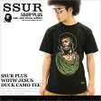 ssur tシャツ メンズ 半袖 ストリート ブランド 大きいサイズ (ssur-p153071202) ssur plus ブランド 2015 tシャツ メンズ 半袖 プリント ロゴ 大きいサイズ 半袖tシャツ XL XXL LL 2L 3L