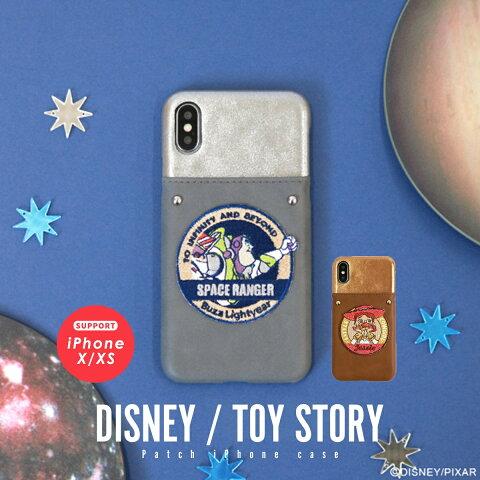 iPhoneX iPhoneXS ケース ディズニー Disney toystory トイ・ストーリー バズ ジェシー 刺繍 ワッペン メール便送料無料