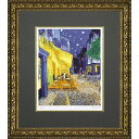 ゴッホ 絵画額(ジグレー版画)「夜のカフェテラス」 MW-18034【絵画/複製画/ポスター額付】