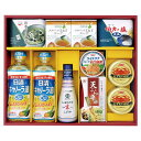 調味料セレクトギフト(GE-60)【日清/キャノーラ油/油/しょうゆ/塩/お茶漬け/天つゆ/かに