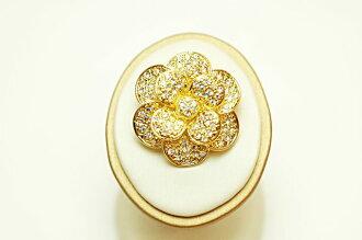 Swarovski broach camellia - gold -