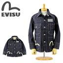 EVISU (エヴィス ジーンズ)[EJD-1119ID] #1119 カバーオール (インディゴ デニム)(ノンウォッシュ/リジッド/カモメ/ペイント/ジャケット/日本製/エビス)