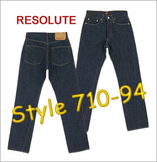 ■ RESOLUTE (resolute 66 models jeans) [710-94] [28-34inch] (Washed) ☆ Slim Straight Fit ☆ [Made in JAPAN] (710-2-94/710-4-94/710-6-94)
