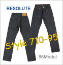 66 710-4-95 RESOLUTE () model JEANS [product made in Japan] / 710-6-95 [28 - 34inch] (non-wash ) free shipping!) Collect on delivery fee free of charge! [smtb-td] [Hayashi]