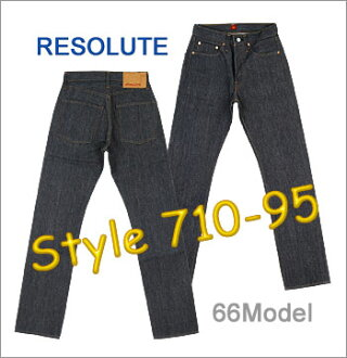 ■ RESOLUTE (resolute 66 models jeans) [710-95] [28-34inch] (Unwashed) ☆ Slim fit ☆ [Made in JAPAN]  (66type / 710-4-95 / 710-6-95)