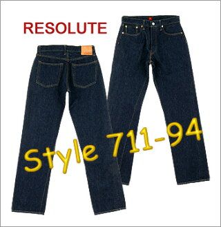 ■ RESOLUTE ( リゾルト ) XX model JEANS ( Big size W36 W38 W40 ) 711-94 (single wash) ▼! Cash on delivery fee free! ▼