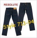 66 66 RESOLUTE () Low JEANS [product made in Japan] roller Izumo Dell! 713-94 (one wash) [28 - 34inch  free shipping!] Collect on delivery fee free of charge! [smtb-td] [Hayashi]