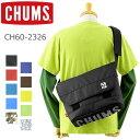 CHUMS(チャムス ショルダーバッグ)エコ ロゴ メッセンジャーバッグ CH60-2326 (ロゴプリント/メンズ/レディース/通学 通勤/おしゃれ/かわいい/BAG)