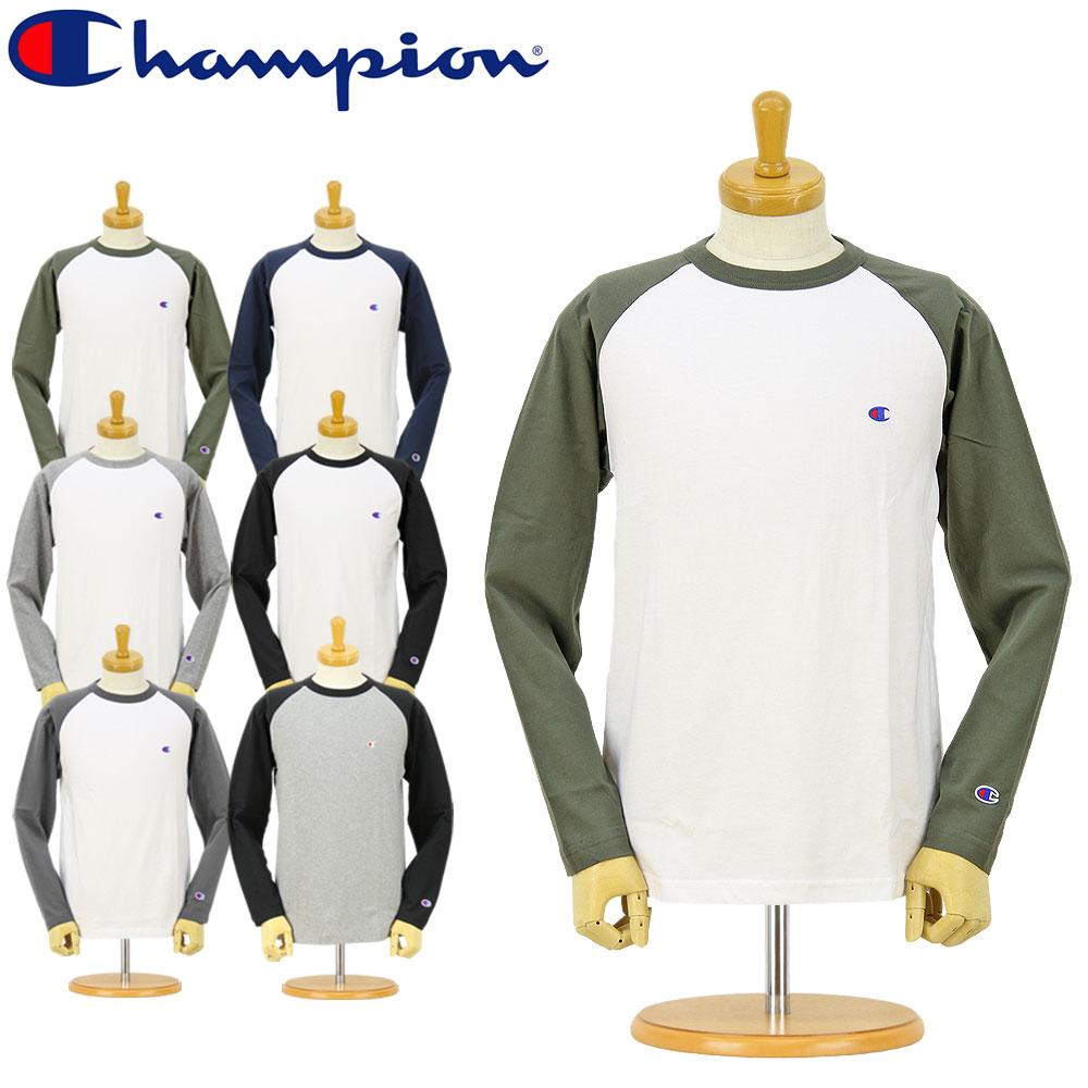 CHAMPION (チャンピオン) 長袖Tシャツ (C3-J425) ベーシック ラグラン ロングスリーブ Tシャツ(ワンポイント/メンズ/レディース/ストリート/アメカジ/)【SALE セール】