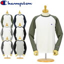 CHAMPION (チャンピオン) 長袖Tシャツ (C3-J425) ベーシック ラグラン ロングスリーブ Tシャツ(ワンポイント/メンズ/レディース/ストリ..