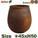 ジレ L AG-110-003 /6(直径45cm×H50cm)(底穴なし)セメントファイバー モノトーン 店舗装飾 大型 カフェ プロ
