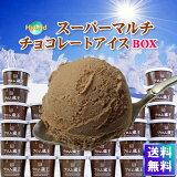 ◆バレンタイン◆【送料無料】フロム蔵王 HybridスーパーマルチチョコアイスBOX24【アイスクリーム】(木製スプーン付き)