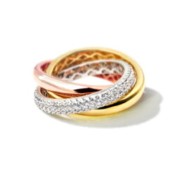 【ニューヨークから届く!】<strong>カルティエ</strong> スタイル 3連リング <strong>指輪</strong> レディース ピンクゴールド 加工 3連リング 婚約 結婚 誕生日 プレゼント 結婚記念日 女性 彼女 妻 嫁 金属アレルギー シンプル