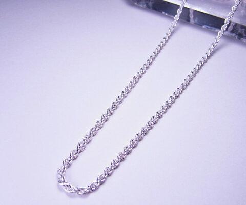 Silver925フレンチロープチェーン太さ2.3mm 40cm/45cm○