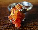 ジンカイト 一点物 超レア 最高透明度 レッド オレンジ ジンカイト リング シルバー925 Zincite 指輪 送料無料 ジンサイト