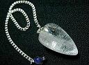 ヒマラヤ水晶+アイオライト付きペンジュラム(ダウン