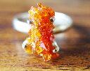 ジンカイト 一点物 超レア 最高透明度 レッド オレンジ ジンカイト リング シルバー925 Zincite 指輪 送料無料 ジンサイト サ...