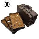 多層 3 層 ディスク ブレスレット ボックス リング ペンダント ディスプレイ スーツケース 収納 ジュエリー