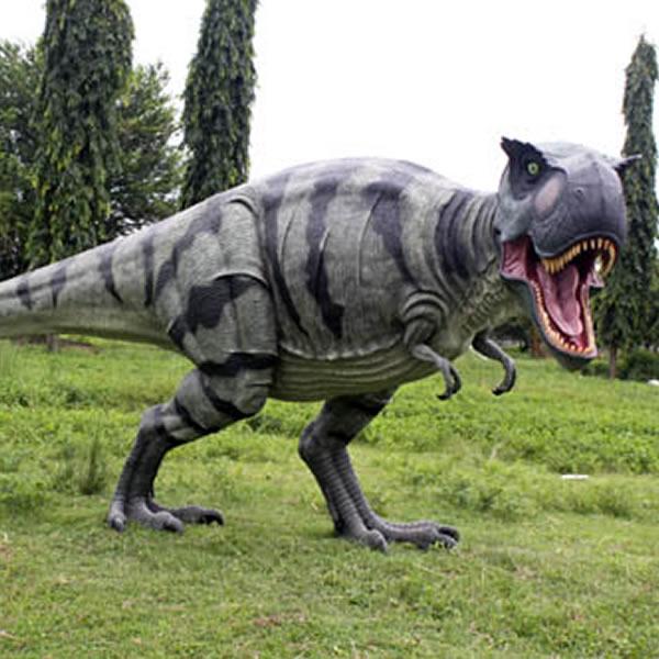 FRP恐竜オブジェ 歩くティーレックス 置物 白亜紀 肉食恐竜 獣脚類 ティラノサウルス 標本 博物館 店舗 イベント ディスプレイ 実物大 等身大 リアル