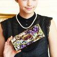 ロココ様式を贅沢に描いたアートレザーのギャルソン財布 Salu Servre (サルー セーヴル)