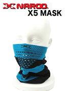 NAROO(ナルー)フェイスマスク「X Band 5 mask」エックスバンド5マスク(ブルー×ブラック)