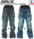 '15x-nixエクスニクス レディース スノーボード ウェア「Girls Real Denim Print Pantsガールズリアルデニムプリントパンツ」XN...