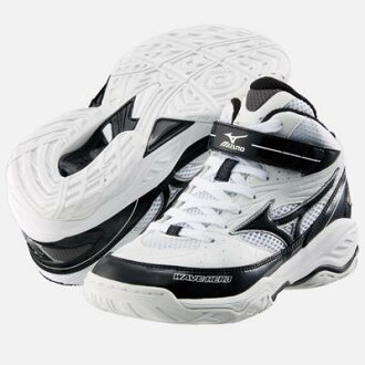 "ミズノジュニア basketball shoes ' wave hero BB / white / black ""13KL-06009"