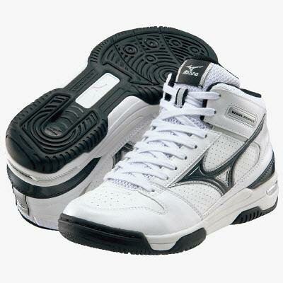 "ミズノジュニア basketball shoes ' wave rookie BB2 / white / black ""13KL17009"