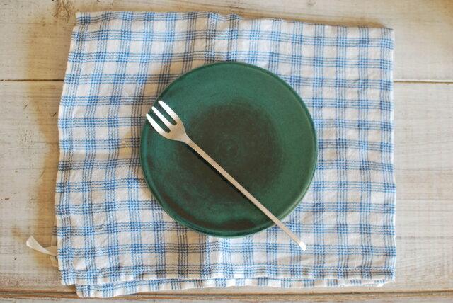 新商品土物フラットリムプレートSサイズトルコブルー小皿板皿おかず皿取り皿デザート皿パン皿インスタグラ