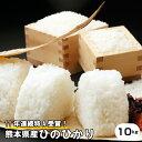 新米【元年産】熊本県産【ひのひかり】白米10kg(5kg×2...
