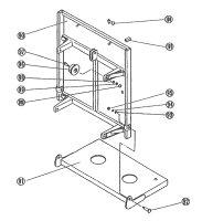 【トーヨーコーケン】荷揚げ機AL4用部品 荷台(台車)ワイヤーピン(図104)