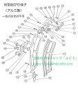 【トーヨーコーケン】PV-MZ・AL4・NJPシリーズ用部品 (新・旧型曲がり梯子用) 長ローラー(ベアリング付き)(図68))1組(1台4組必要です)