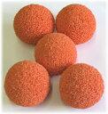 【友定建機】モルタルポンプホース掃除用スポンジボール(内径40mmホース用)オレンジ(5個入り)