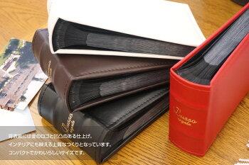 ナカバヤシ背丸ブック式ポケットアルバムLUSSOregalo(ルッソレガーロ)L判1段/80枚LUBPL-80-Rレッド