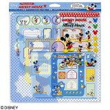 ナカバヤシ ディズニーキャラクター フォトコーディネートセット (ミッキーマウス) アS-FCS-1 激安【Disneyzone】 / ミッキー 写真カット デコレーション スクラ