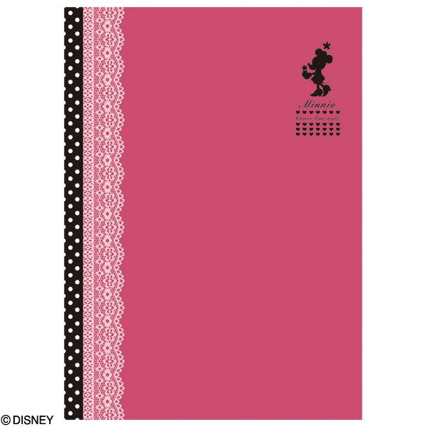 【アウトレット/数量限定特価】ナカバヤシ ディズニーキャラクター・クロスラインノート レース ノS-45A-1 (ミニーマウス) 【Disneyzone】